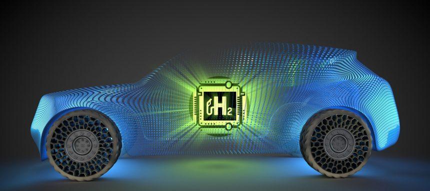 Auto mit Brennstoffzelle oder Elektroauto